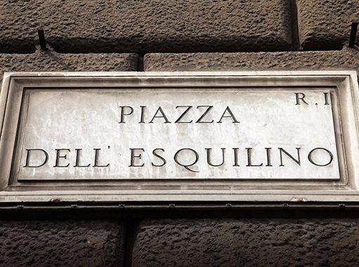 Targa di piazza dell'Esquilino, a Roma